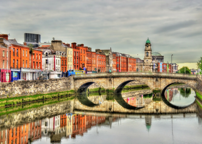 Dublin from the river