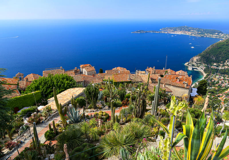 the medieval village of Eze on the French Riviera