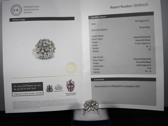 an example of a  jewellery valuation report