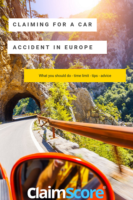 How to claim for a car accident in Europe
