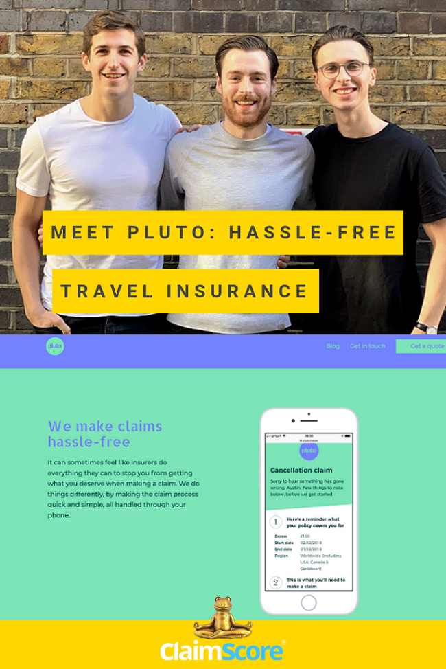 Pluto insurance for all your travels