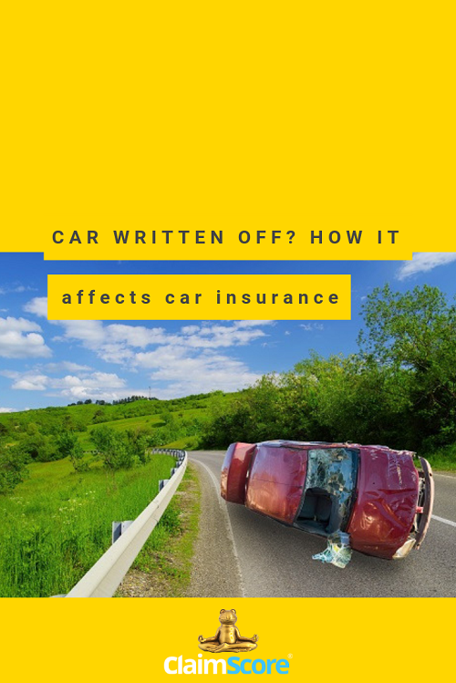 How does a car write off affects your car insurance