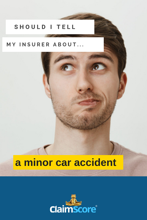 tell your insurer about a minor car incident or not